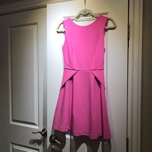 Adelyn Rae Hot Pink Strappy Back Dress